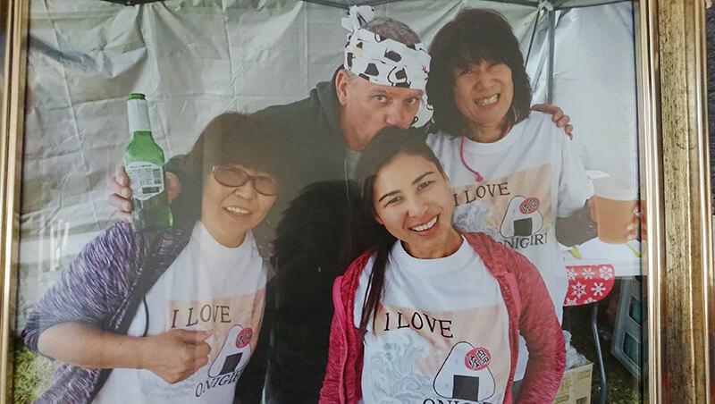 アメリカで友人たちとイベントに参加した時の写真